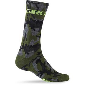 Giro Seasonal Socks Merino Wool camo/highlight yellow